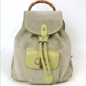 Gucci bamboo suede mini backpack